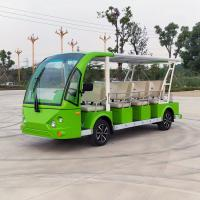 14 Seats Electric Sightseeing Car Golf Cart Shuttle 220v FRP Material Manufactures