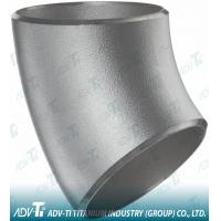 45° Elbows Titanium Material Pipe Fittings Corrosion Resistant Industrial Manufactures