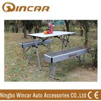 Heavy Duty Aluminum Expandable Portable Camping Table With Bench Manufactures