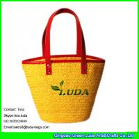 China LUDA wholesale designer handbags lady wheat tote straw bags on sale