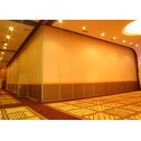 Office Hanging Sliding Door , 65mm Panel Operable Wall For Banquet Wedding Facility Manufactures