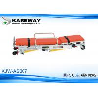 Backrest Adjustment Patient Trolley Stretcher , Fold Up Stretcher 3 Years Guarantee Manufactures