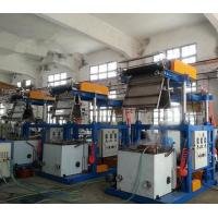 PVC Film 0.025 - 0.07mm Thickness Blown Film Extrusion Machine With Pillar Under Electric Lift Manufactures