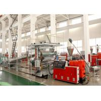 1220 mm PVC Marble Plastic Sheet Extrusion Line , PVC Decorative Wall Panel Making Machine Manufactures
