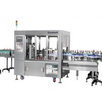 Linear Type Round And Square Bottle Labeling Machine , Sticker Applicator Machine