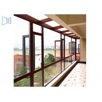 Space Saving Aluminium Casement Windows Grills Design Anti Aging For Building Manufactures