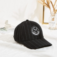 Black 50cm Embroidered Baseball Caps With Metal Buckle Manufactures