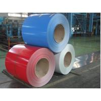 Glossy Color Coated Prepainted Steel Coil , Galvanized Steel Coil For Roof / Wallboards Manufactures