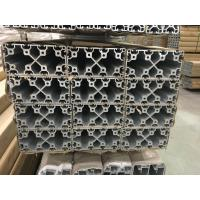 China 2020 4040 8080 4060 T Slot Aluminium Industrial Profile With Silver And Black Anodized on sale