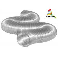 Compressed Semi Rigid Aluminum Duct for Industrial HVAC Systems , 150mm Aluminium Flexible Ducting Manufactures