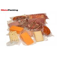 Three Side Seal Vacuum Seal Food Bags Transparent For Meat / Sausage Packaging BRC Standard Manufactures