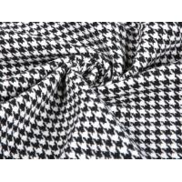 Thick Heavy Houndstooth Merino 80% Wool Velvet Fabric For Overcoat Manufactures