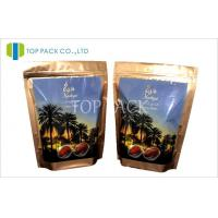 Food Stand Up Zipper Pouch Packaging For Dates PET / AL / PE 3 Layer Manufactures