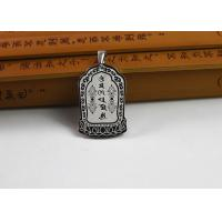 Custom Stainless Steel Buddhist Symbol Necklace With Antique Scripture Manufactures