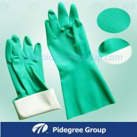 Black Light Weight Latex Industrial Gloves Durable With Orange Lined Manufactures