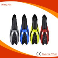 Customized Color Diving Swim Fins , Lightweight Full Foot Scuba Fins Manufactures