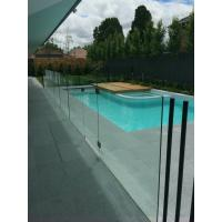 Frameless glass pool fence with stainless steel accessories Manufactures