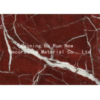 High Glossy Membrane Marble Effect Vinyl Roll , Commercial PVC Furniture Film Manufactures