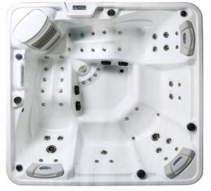 5 Person Capacity Hot Massage Tub , Hot Tub Spa Corner Drain Location PFDJJ 08 Manufactures
