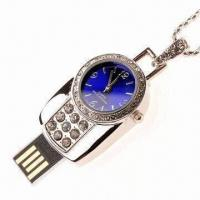 Crystal USB Flash Drive Disk with Watch Function, Easy-to-read and Read in High Speed Manufactures