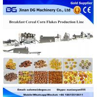 Buy cheap Kellogg Breakfast Cereal Corn Flakes Extruder Machinery Production Plant from wholesalers