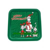 square tin tray christmas tin trays promotional metal tin serving trays Manufactures
