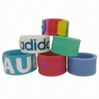 Quality Silicone Wristband, Ideal for Advertisements for sale