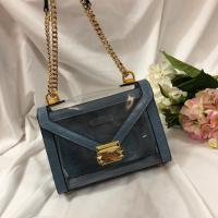 New Michael Kors handbag Whitney Blue Crocodile Leather Chain Shoulder women's Bag Manufactures