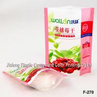 China Laminated Fruit Food Packaging Plastic Bags With Clear Window , Stand Up Bag on sale