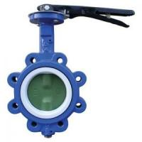 EPDM Seated Manual Lug Butterfly Valves Wafer Type For Ship Building / Textile,cast iron,cast steel Manufactures