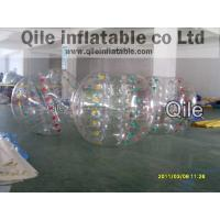 1.8m PVC Blue Clear Inflatable Bumper Ball for human bubble football game Manufactures