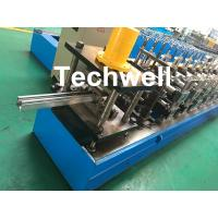 0-15m/min Cold Roll Forming Machine For Making Door Frame Guide , Shutter Door Slats Guide Rail Manufactures