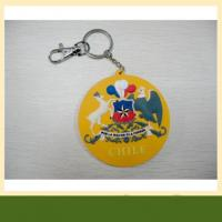 Bag or luggage accessories customized pvc Keychain 3d silicone rubber keychain Manufactures