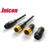 M25 Black Yellow Color 30A Two Pin Waterproof Connector , Circular Pin Connector Manufactures