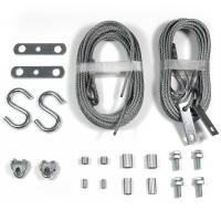 China Garage Door Wire Rope Assemblies Replacement 2 Sets Safety Cables on sale