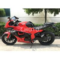 Red Color Street Sport Motorcycles , Cool Street Bicycles Hydraulic Suspension Manufactures