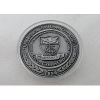 2D or 3D Personalized Coins / School Campus Coin with Antique Silver, Anti Nickel, Anti Brass Plating Manufactures