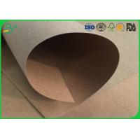 Water Resistant / Waterproof Brown Kraft Paper Roll 200gsm 250gsm For Packaging Box Manufactures