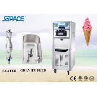 Soft Serve Commercial Ice Cream Making Machine Three Flavor With Movable Wheel Manufactures