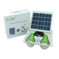 Solar power lighting kits 9W panel double lamps  lithium battery with remote control for camping,  emergency lighting Manufactures