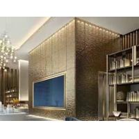 Hammered Stainless Steel Panels Rose Gold Mirror Finish For Hotels Villa Lobby Interior Decoration Manufactures