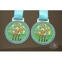 Buy cheap Colorful marathon medailles, Custom soft enamel Running medal at competive price from wholesalers