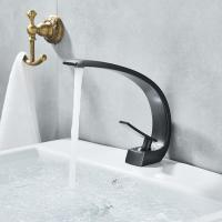 Single Handle Bathroom Basin Faucets , Polished Brass Bathroom Sink Faucet Manufactures