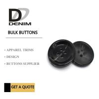 Bulk Flat Black ing Buttons • 4 holes • Plaid blazer • Clothing Accessories Manufactures