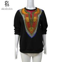 Womens / Ladies Patchwork Sweater Fleece African Print Tops Long Sleeve Wax Printed Manufactures