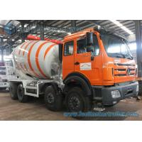 China 8X4 85Km/h 10m3 Mixer Truck North Benz truck White And Orange on sale