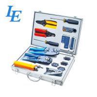 LE-K4015 Network Wiring Tools Kit Set Of Crimp Punch Strip Cut Tool Tester Manufactures