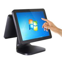 China Dual Screen Retail Pos System Aluminium Alloy Case 10 Point Capacitive Touchscreen on sale
