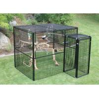Welded Wire Lifestyle Deluxe Metal Bird Aviary Powder Coated Black Color Manufactures