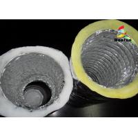 Air Conditioning Fiberglass Flame retardant Aluminum Insulated Flexible Ducts Manufactures